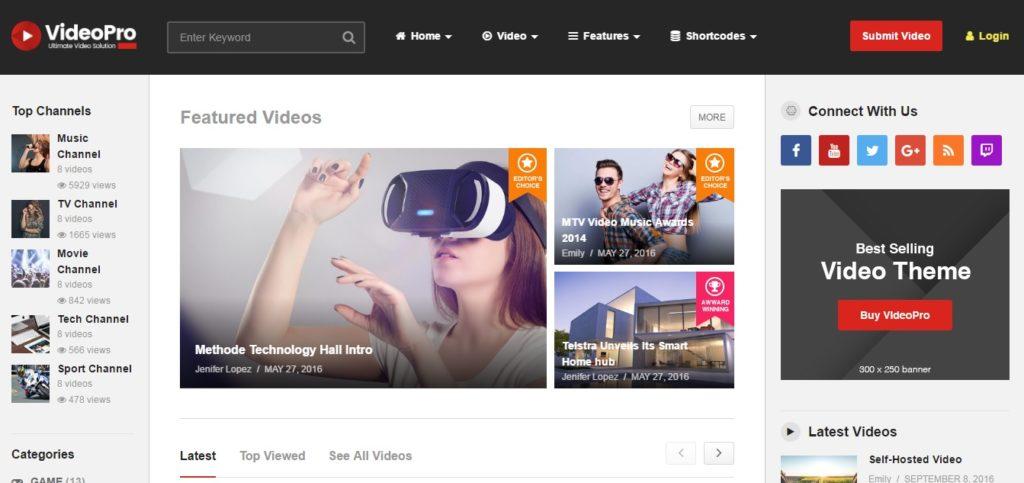10+ Best Premium Video WordPress Themes and Video Templates