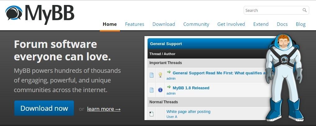 MyBB opensource forum script