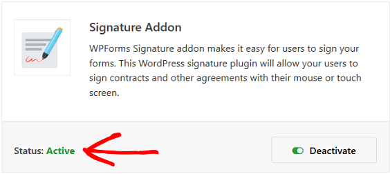 Signature Addon - WPForms