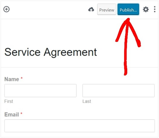 Wpforms Service agreement