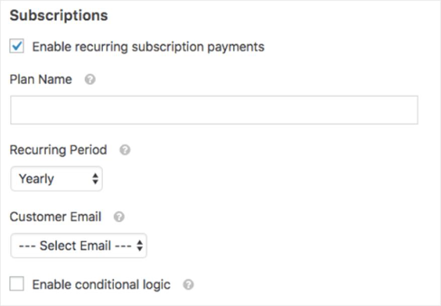 Wpforms subscription