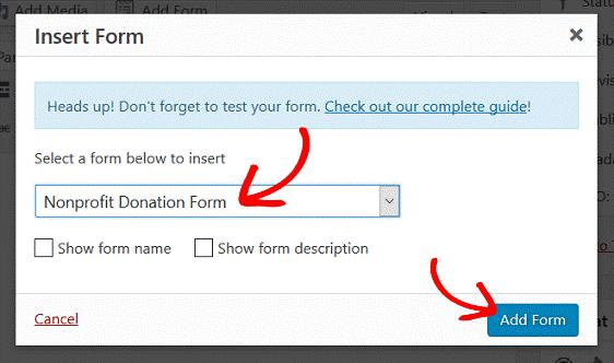 Nonproft Donation Form11