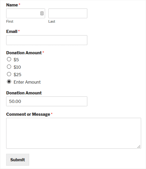 Nonproft Donation Form12