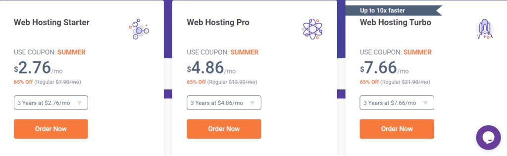 Chemicloud hosting plan