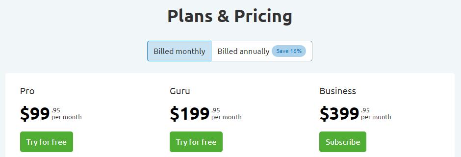 Semrush - Pricing